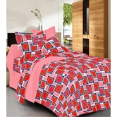 Always Plus Green Check Double Bedsheet (1 Double Bedsheet With 2 Pillow Cover)