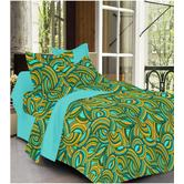 Always Plus Multicolor Floral Double Bedsheet (1 Double Bedsheet With 2 Pillow Cover)