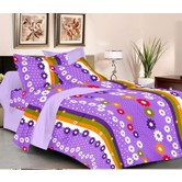 Always Plus Yellow Floral Double Bedsheet (1 Double Bedsheet With 2 Pillow Cover)