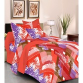 Always Plus Blue Contemporary Double Bedsheet (1 Double Bedsheet With 2 Pillow Cover)