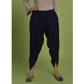 Craftsvilla Blue Rayon Solid Ankle Length Dhoti Pant
