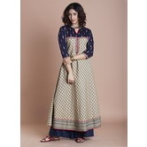 Blue Anarkali Cotton...