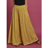 Craftsvilla Beige Rayon Solid Ankle Length Palazzo
