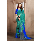 Craftsvilla Green Color Georgette Printed Casual Saree