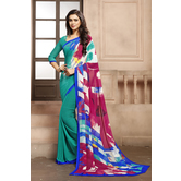 Craftsvilla Multicolor Georgette Printed Casual Saree