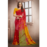 Craftsvilla Red Color Georgette Printed Casual Saree