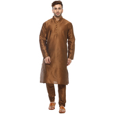 Craftsvilla Brown Color Embellished Kurta Pyjama