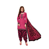 Craftsvilla Pink Color Cotton Printed Unstitched Straight Suit