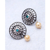 Craftsvilla Silver Plated Hand Crafted Ethnic Studs Earrings