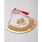Craftsvilla Gold Plated Hand Crafted Ethnic Necklace Set
