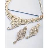 Craftsvilla Silver Plated Hand Crafted Classic Necklace Set
