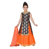 Craftsvilla Blue Color Lehenga Choli For Girls