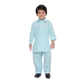 Craftsvilla Turquoise Color Pathani Suit For Boys
