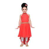Craftsvilla Orange Color Dress For Girls