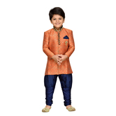 Craftsvilla Orange Color Sherwani For Boys