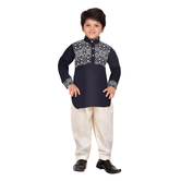 Craftsvilla Blue Color Pathani Suit For Boys