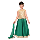 Craftsvilla Green Color Lehenga Choli For Girls