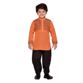 Craftsvilla Orange Color Pathani Suit For Boys
