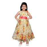 Craftsvilla Beige Color Gown For Girls
