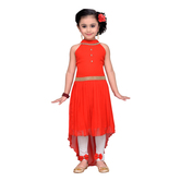 Craftsvilla Red Color Dress For Girls