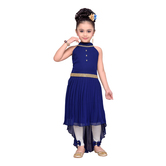 Craftsvilla Navy Color Dress For Girls