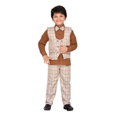 Craftsvilla Rust Color Suit Set For Boys