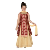 Craftsvilla Maroon Color Lehenga Choli For Girls