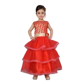 Craftsvilla Red Color Gown For Girls
