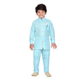 Craftsvilla Turquoise Color Kurta Pyjama For Boys