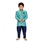 Craftsvilla Turquoise Color Sherwani For Boys