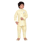 Craftsvilla Yellow Color Kurta Pyjama For Boys