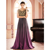 Sutva Purple Color Ombre Stitched Gown