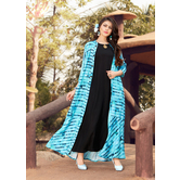 Sutva Designer Black Color Rayon Gown