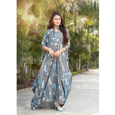 Sutva Designer Grey Color Rayon Gown
