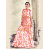 Craftsvilla Off White Color Jacquard Graphic Printed Designer Semi-stitched Lehenga Choli