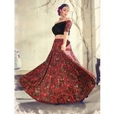 Craftsvilla Brown Color Jacquard Graphic Printed Designer Semi-stitched Lehenga Choli