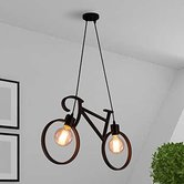 Vintage Edison Tungsten Decorative Filament E27 Holder ,cycle Shape Ceiling Lamp With St 64 Filament Bulb (black)