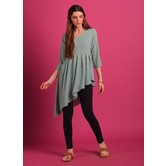 Paakhi- Mint Green Georgette Asymmetrical Top