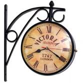 Antique Look Elegant Brass And Glass Two Face Precision Quartz 6 Station Clock 207 Diwali Gift