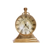 Desk Clock Style Study Office Table Antique Look Elegant Brass And Glass Precision Quartz Clock Diwali Gift