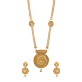 Reeti Fashions - Finly Crafted Beautiful Ivory White Pearls  Gold Tone Necklace Set