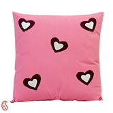 Craftsvilla Heart Alluring Decorative Cushion Cover With Filler