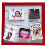 Tayhaa Red Enticing Hanging Pictures Collage Photo Frame (5 Photos)