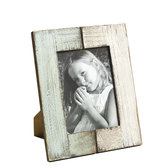 Double Color Wooden Photo Frame With Brush Stroke Finish