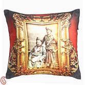 Craftsvilla Rajastani Royals Digital Print Poly Velvet Cushion Cover