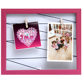Tayhaa Lovely Pink Outline Collage Photo Frame (2 Photos)