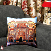 Craftsvilla Suraj Pole Gate Amber Jaipur Velvet Cushion Cover