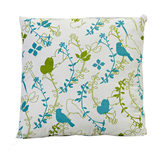 Meadow Print Cotton Cushion Cover With Filler
