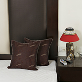 Chocolate Brown Dupion Silk Decorative Cushion Cover Set