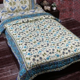 Rajasthani Block Print Single Bed Cotton Quilt